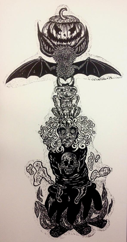 All Hallows Totem by Jessi Hardesty